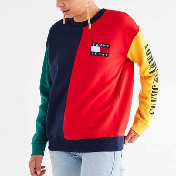 1a98a3e7 Tommy Hilfiger Tops | New Tommy Jeans 90s Capsule Colorblock ...